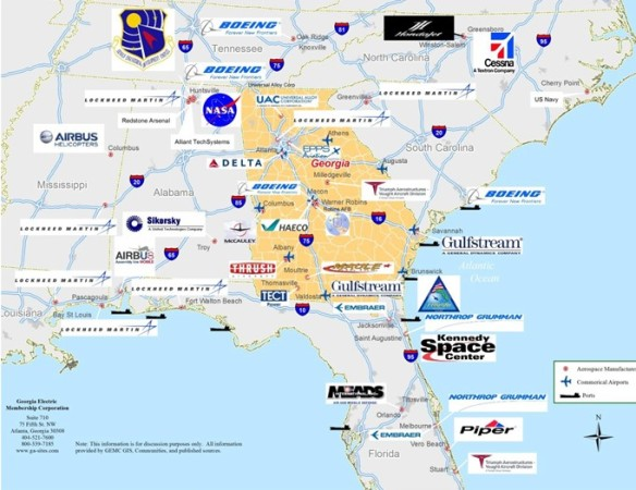 aerospace SE map 2018